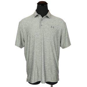 Under Armour Heat Gear Golf Polo Shirt Gray XL